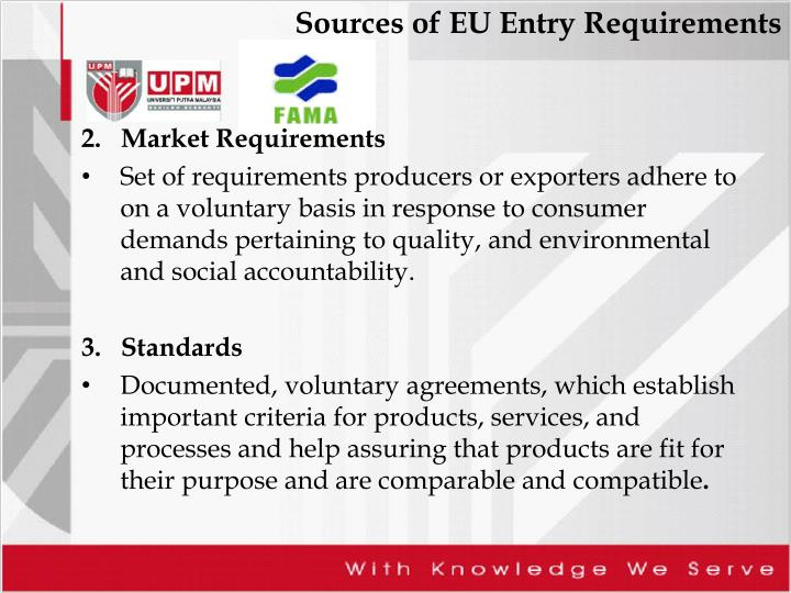 2.   Market Requirements