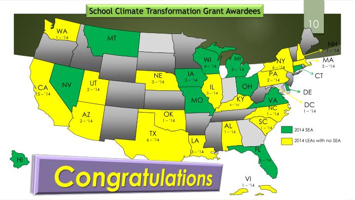 School Climate Transformation Grant Awardees