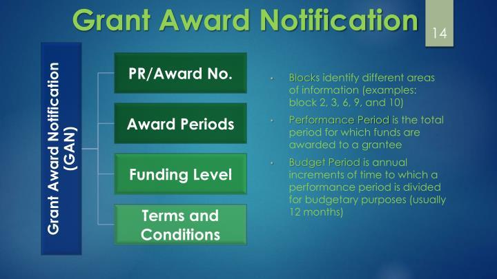 Grant Award Notification