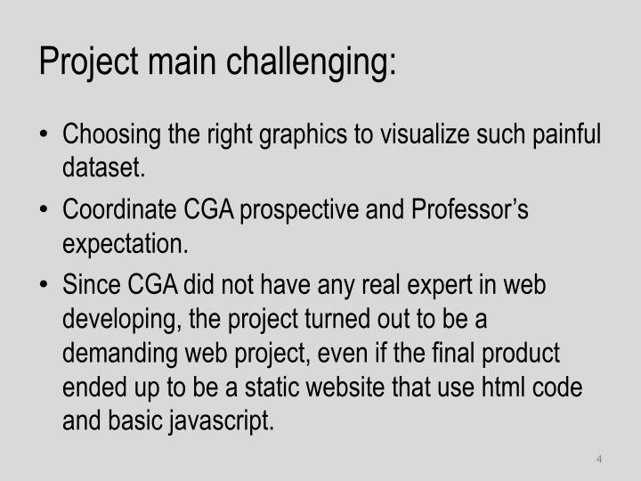 Project main challenging: