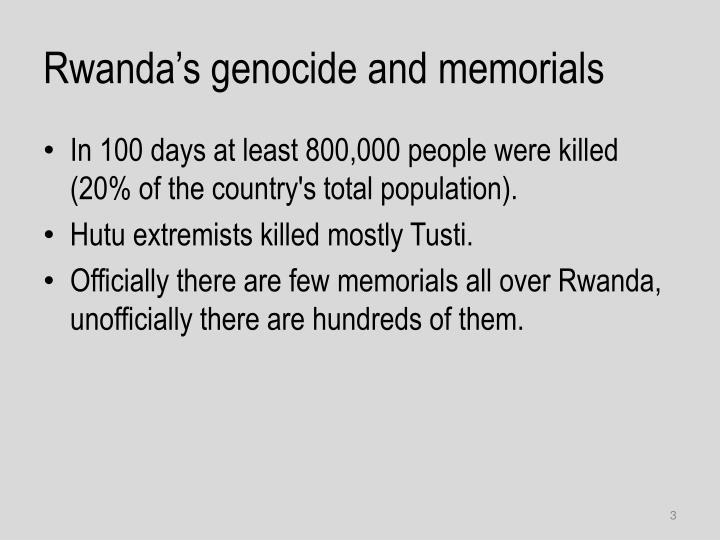 Rwanda's genocide and memorials