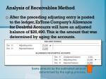 analysis of receivables method7