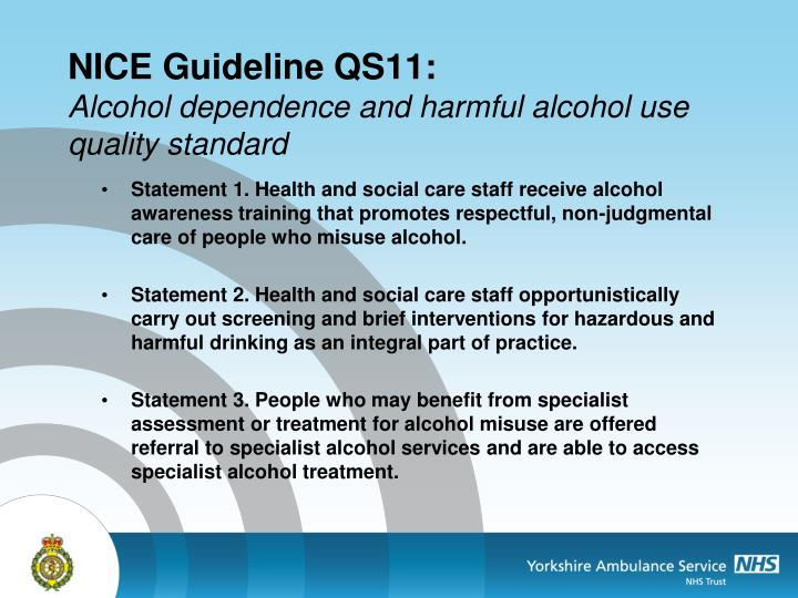 NICE Guideline QS11: