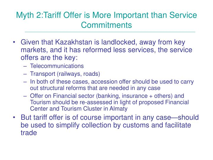 Myth 2:Tariff Offer is More Important than Service Commitments