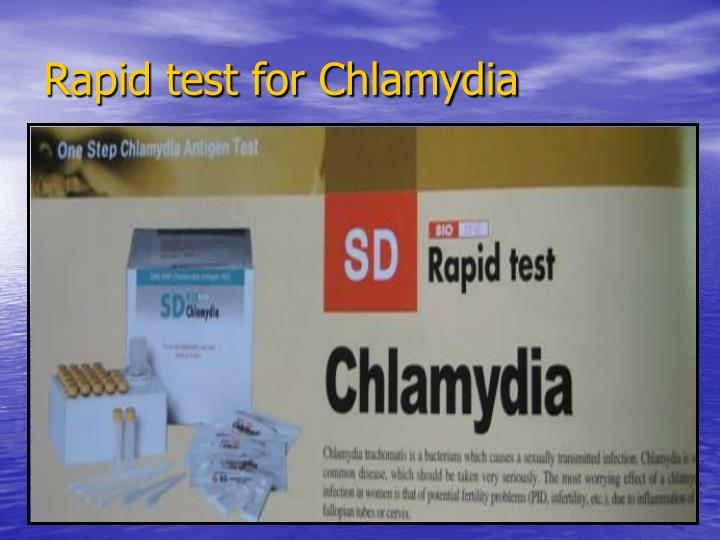Rapid test for Chlamydia