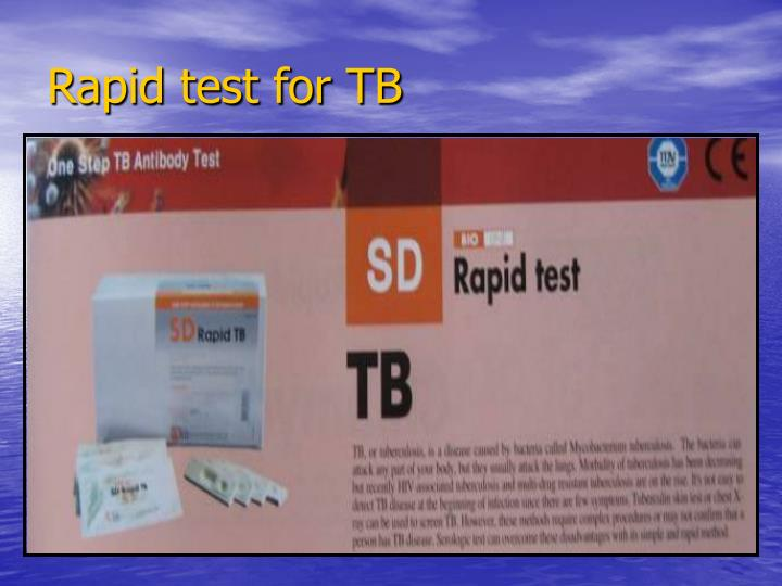 Rapid test for TB