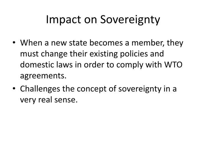 Impact on Sovereignty