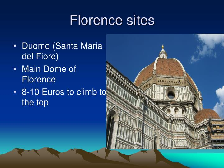 Florence sites