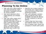 planning to go online