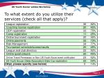 to what extent do you utilize their services check all that apply