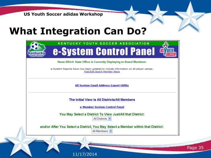 US Youth Soccer adidas Workshop