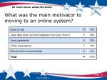 what was the main motivator to moving to an online system