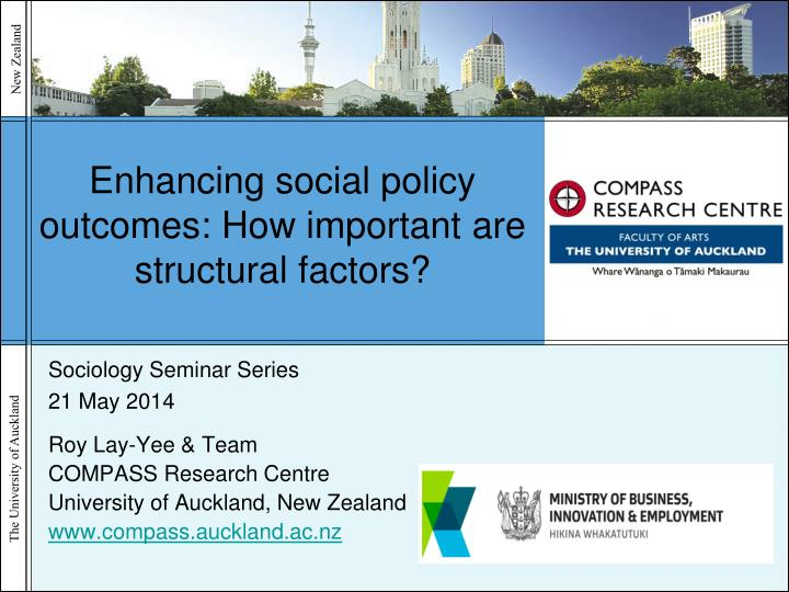 enhancing social policy outcomes how important are structural factors