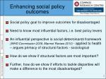enhancing social policy outcomes