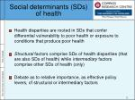 social determinants sds of health
