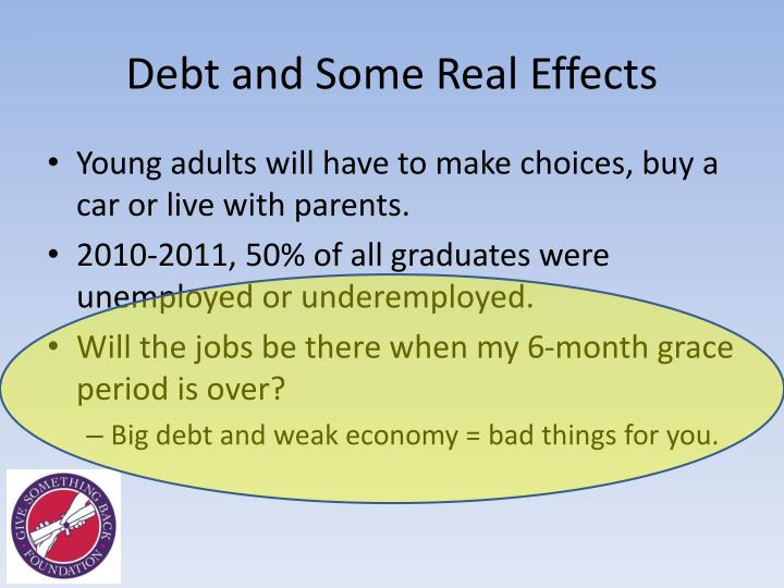 Debt and Some Real Effects