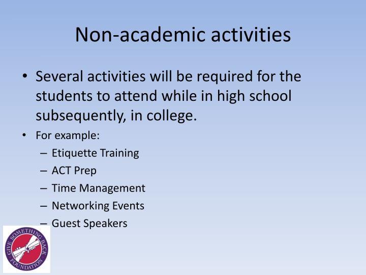 Non-academic activities