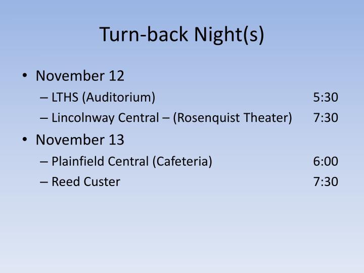 Turn-back Night(s)