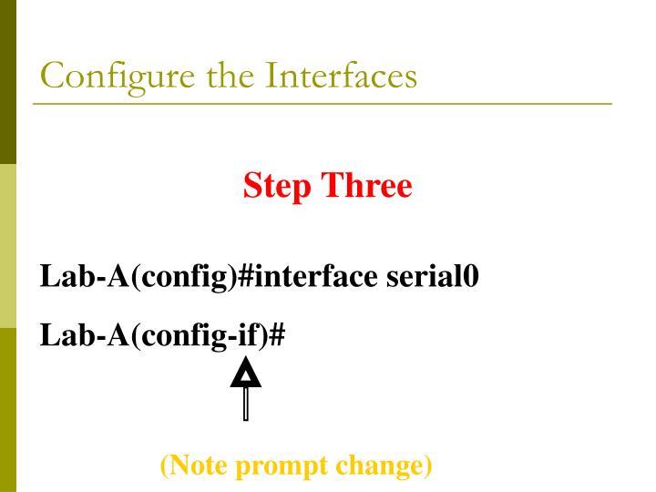 Configure the Interfaces