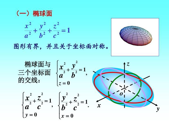 (一)椭球面
