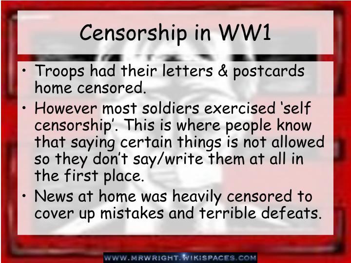 Censorship in WW1