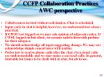 ccfp collaboration practices awc perspective