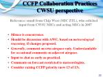 ccfp collaboration practices cwsu perspective