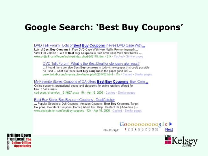 Google Search: 'Best Buy Coupons'