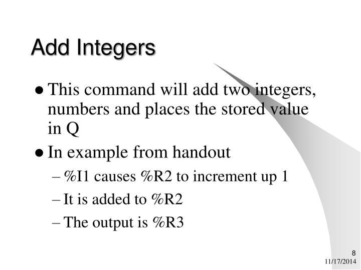 Add Integers