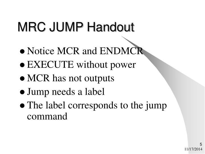 MRC JUMP Handout