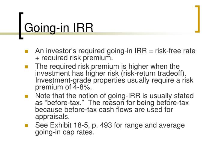 Going-in IRR