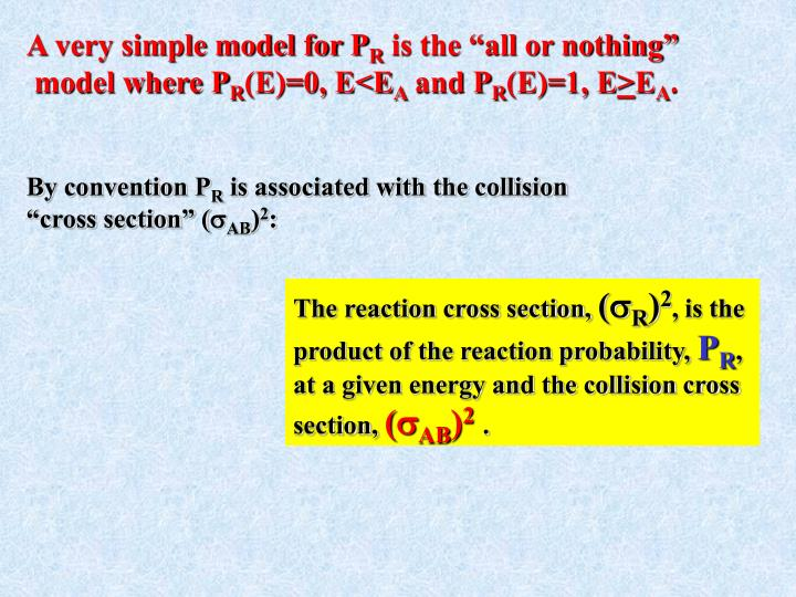 A very simple model for P