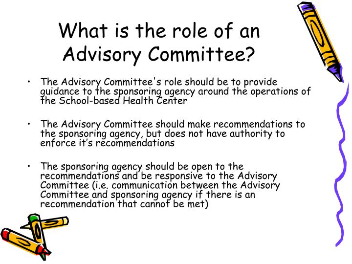 What is the role of an Advisory Committee?