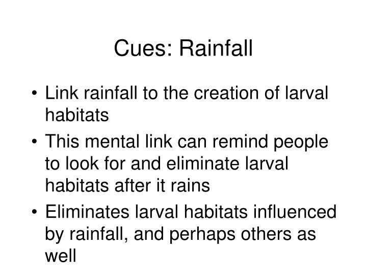 Cues: Rainfall