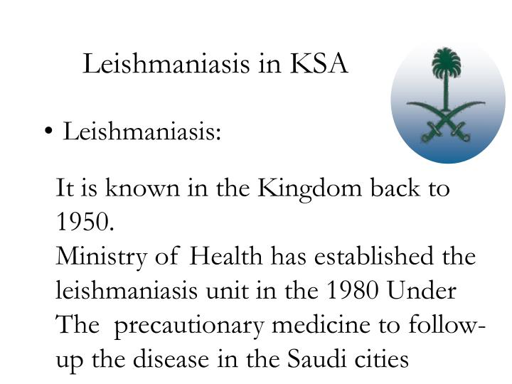 Leishmaniasis in KSA