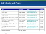 introduction of panel