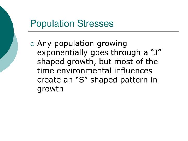 Population Stresses