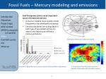 fossil fuels mercury modeling and emissions