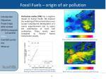 fossil fuels origin of air pollution