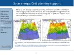 solar energy grid planning support