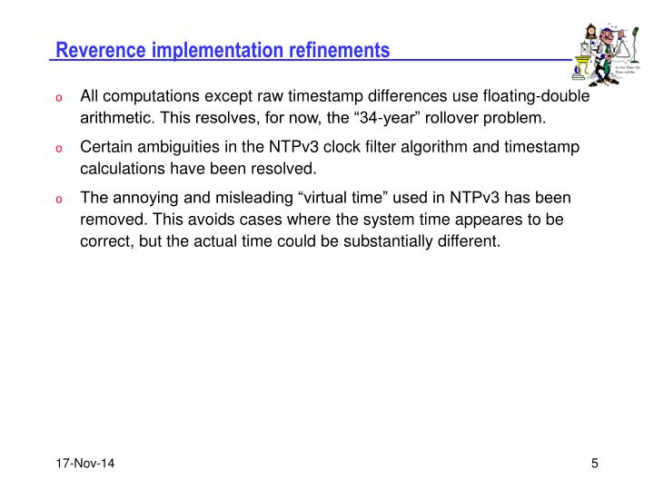 Reverence implementation refinements