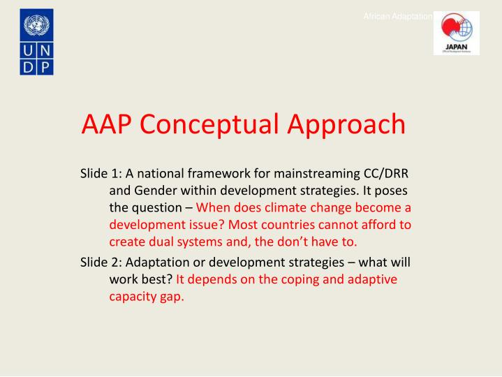 AAP Conceptual Approach
