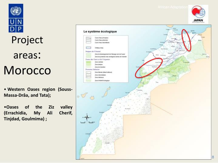 Project areas