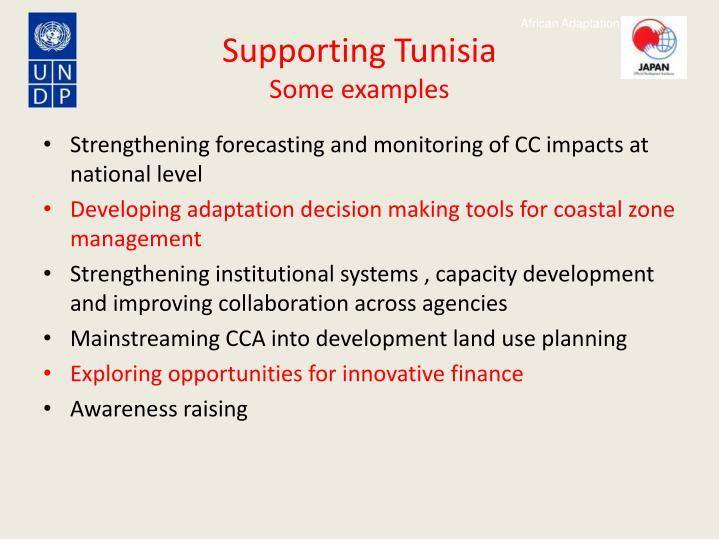 Supporting Tunisia
