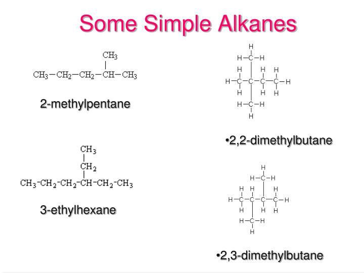 Some Simple Alkanes