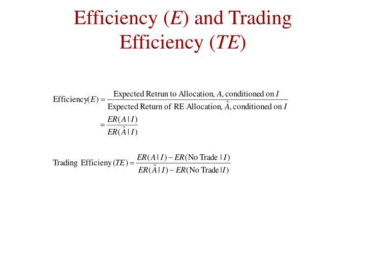 Efficiency (