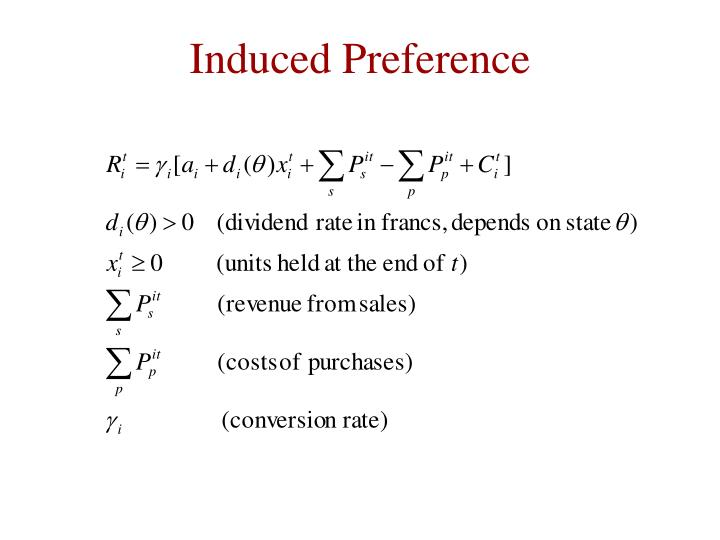 Induced Preference