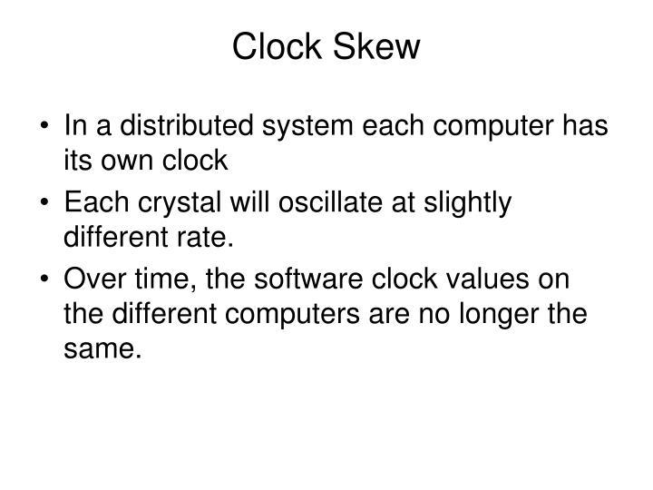 Clock Skew