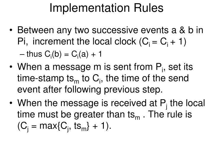 Implementation Rules