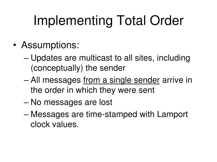 Implementing Total Order